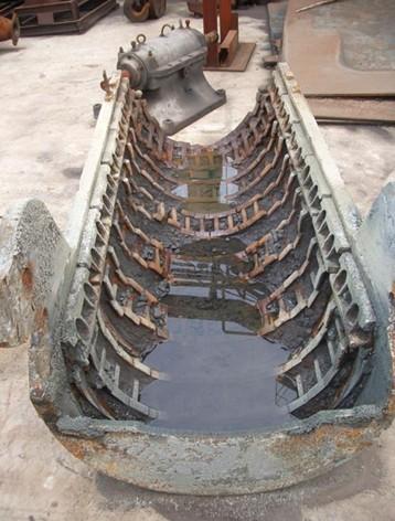 钢铁厂高炉布料溜槽修复